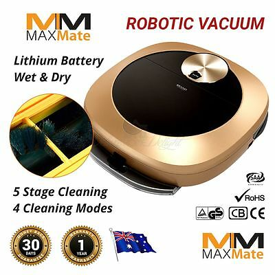 Robotic Vacuum Cleaner, Wet Dry Mop 12 Action Daily Auto Schedule Li-Ion Remote