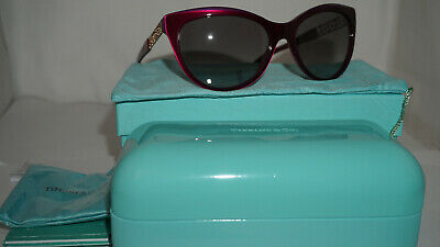 39fc1a37ac45 TIFFANY   CO. RX New Authentic Sunglasses Pearl Plum Grey TF4119 81733C 56  140