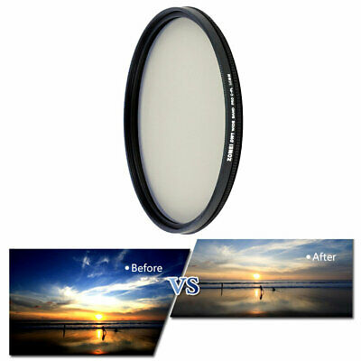 49/52/58/62/67/77/82mm ZOMEI Ultra Thin For CPL Camera Polarizing Filter  EA