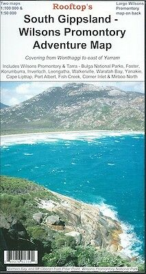 Rooftop South Gippsland - Wilsons Promontory Adventure Map *FREE SHIPPING - NEW*