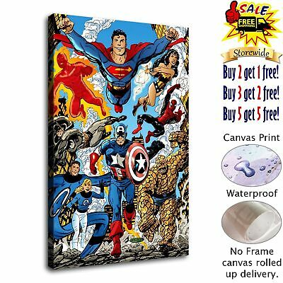 """12""""x18""""Super hero HD Canvas print Painting Home Decor Picture Room Wall art"""