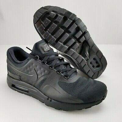 NIKE AIR MAX ZERO ESSENTIAL Triple Black Mens Size 11 Running Shoes 876070 006