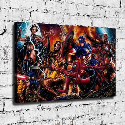 Super hero HD Canvas print Painting Home Decor Picture Room Wall art 125477