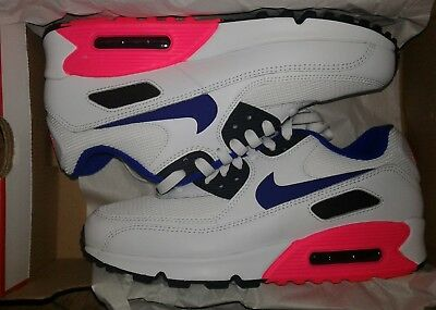 huge selection of 5c570 cc99d Nike Air Max 90 Essential White Ultramarine-Solar Red 537384-136 Men s Size