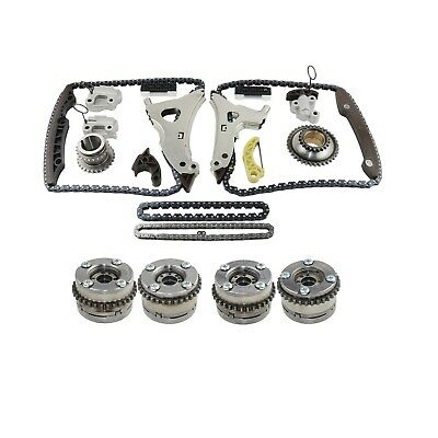 4xCamshaft Adjusters & Timing Chain kit For Mercedes W222 W166 M276 E350 C350