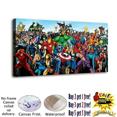 """12""""x24""""Marvel hero HD Canvas prints Painting Home Decor Picture Room Wall art"""