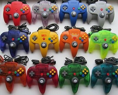 Good Working Nintendo 64 N64 Authentic OEM Controllers Red Blue Green Yellow