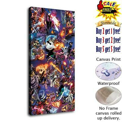 "12""x24""Marvel hero HD Canvas prints Painting Home Decor Picture Room Wall art"