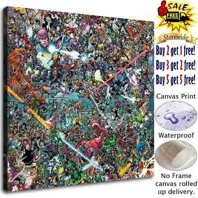 "12""x12""Super hero Poster HD Canvas print Paint Home Decor Picture Room Wall art"
