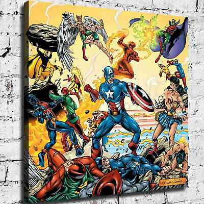 Super hero Poster HD Canvas print Paint Home Decor Picture Room Wall art 125506