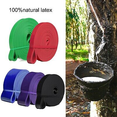 Natural Latex Loop Resistance Bands Pull Up Assist Band Exercise Gym Fitness US
