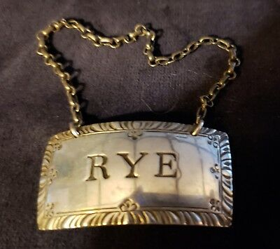 Sterling Silver Decanter Tag, Steiff, 1950, RYE