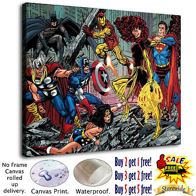 "12""x16""Super hero HD Canvas prints Painting Home Decor Picture Room Wall art"