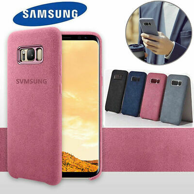 For GENUINE Samsung Galaxy Note8 S8 S9 plus Alcantara  Leather Cover Case Suede