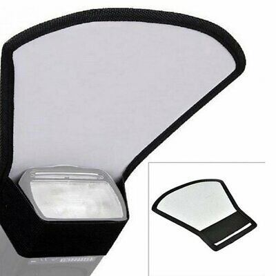 Universal DSLR Camera Flash Speedlite Diffuser Silver/White Reflector Board CL