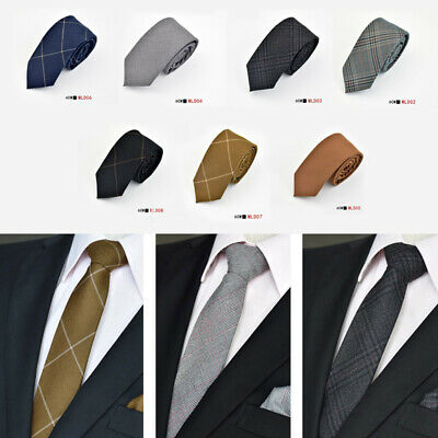 Mens Classic Luxury Ties Cotton Stylish Necktie Business/Party Formal Suit