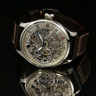SEAGULL ST36 movement 2019 Skeleton Hand Engraved Wrist Watch We are Manufacture