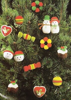 12cms Beauty toy Belle and Rose Christmas tree decoration KNITTING PATTERN