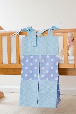 Blue Baby Nappy Stacker/Toy Storage  for a boy. Ideal baby shower gift.