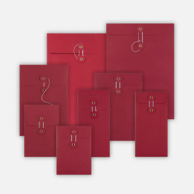 RED Color String & Washer Envelopes Button-Tie Available in all Sizes Cheap