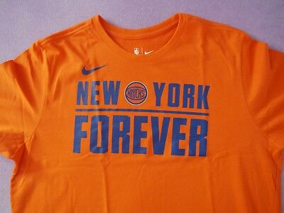 Tee shirt NBA NIKE NEW YORK KNICKS Forever Orange TBE XL T-shirt  DRY FIT