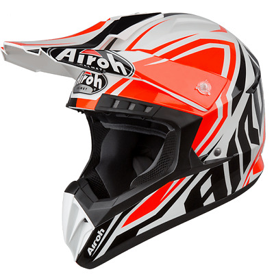 SWSP32 CASCO SWITCH OFF ROAD CROSS ENDURO AIROH SPACER ARANCIO LUCIDO MIS.M