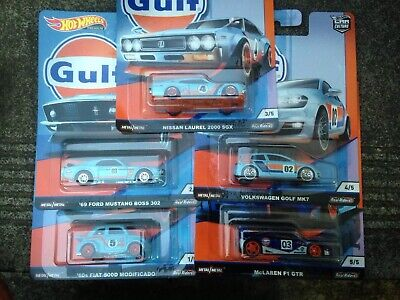 Hotwheels Car Culture Gulf - Complete Set Of 5 - Brand New