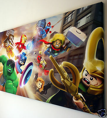 LEGO MARVEL CANVAS PRINT WALL ART PICTURE  18 x 32 INCH
