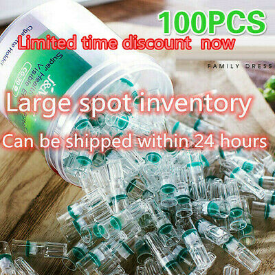 100X Clear Plastic Cigarette Holder Smoking Filter Tar-proof Filtrator Healthy