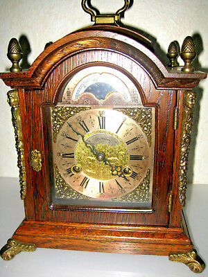 OLD DUTCH MANTLE BRACKET anniversary CLOCK WUBA WARMINK MOONDIAL engraved moveme