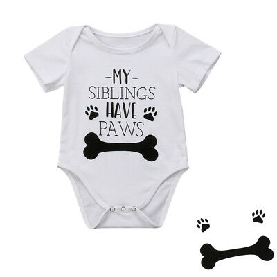 Newborn Infant Baby Boy Girl Funny Bone Romper Jumpsuit Soft Clothes Outfits WT