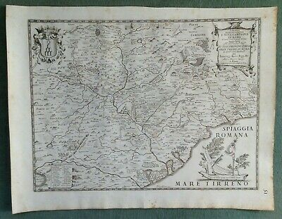 ITALY ROMA c. 1672 DE ROSSI-CANTELLI DA VIGNOLA LARGE ANTIQUE ENGRAVED MAP