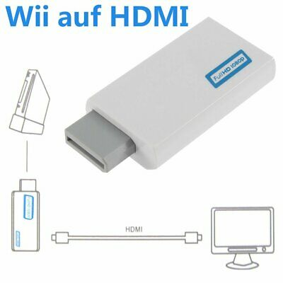 Nintendo Wii auf HDMI Adapter Konverter Stick Upskaler 720p 1080p Full HD TV TmR