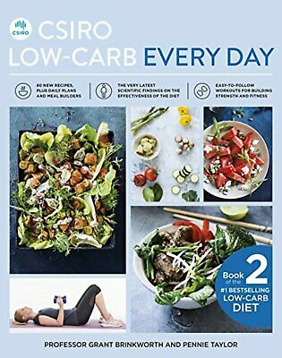 CSIRO Low Carb Every Day Book by Grant Brinkworth Pennie Taylor Paperback 2018