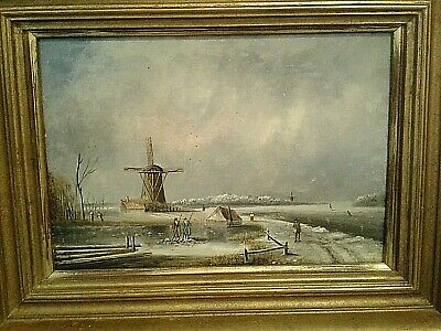 19th-century oil painting Christies provenance Dutch Winter scene beautiful