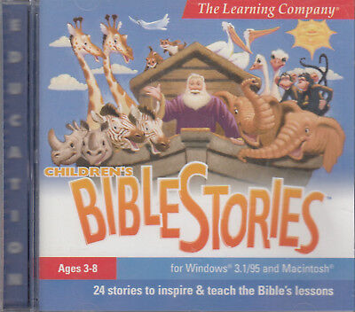 Children's Bible Stories CD Rom Animations Music Interactive Games Lessons