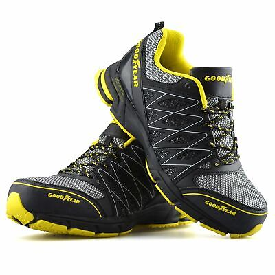Mens Goodyear Safety Steel Toe Cap Work Ankle Hiker Boots Trainers Shoes Size