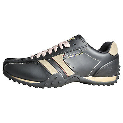 Skechers Urban Track Forward Men's Casual Leather Shoes Black