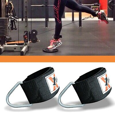 D-Ring Adjustable Wrist Ankle Strap Gym Cable Machine Attachment Fitness Cuffs