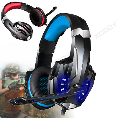 3.5mm USB Over Ear Gaming Kopfhörer Headset für Laptop Handy PC mit LED Mikrofon