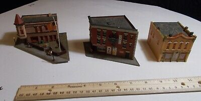 Train N Scale Downtown Building Lot Couple Loose Parts Building On Right Needs .