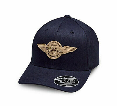 Harley-Davidson Baseballcap Winged Patch, Stretch verstellbar *97842-19VM*