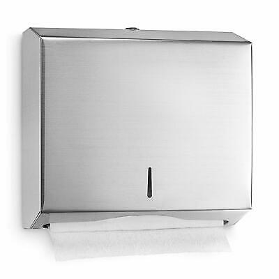 Alpine Stainless Steel Wall Mount C-Fold Holder Multifold Paper Towel Dispenser