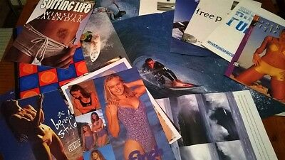 Assorted Old 90s Aussie Surf Posters and Swimwear Booklets Calendars etc