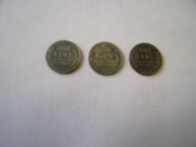 1943-S-D-P LINCOLN STEEL WHEAT CENT 3 Coin Set Of All 3 Mints