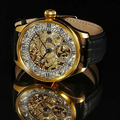 LONGINES movement SWISS Skeleton Gilding Case Hand Engraved We are Manufacturer