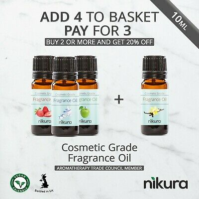 10ml Fragrance Oil - Cosmetic Grade Scent - Multi Listing by Nikura