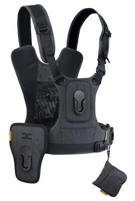 Cotton Carrier CCS G3 Camera Harness System Sport Package Charcoal Grey