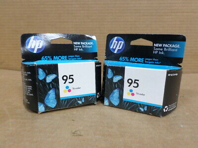 Lot of 2 HP #95 Color Ink Cartridges NEW GENUINE