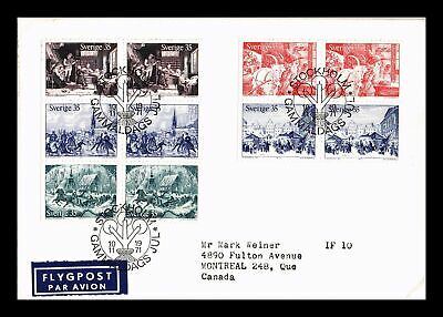 Dr Jim Stamps Old Time Christmas Fdc Airmail Sweden European Size Cover